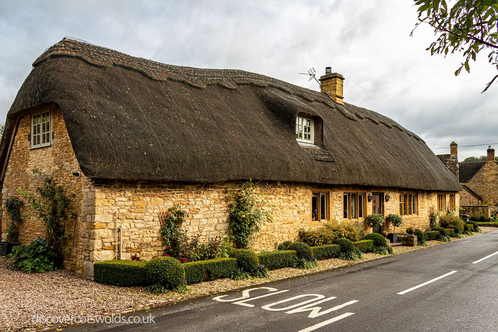 Thatched cottage in the Cotswolds village of Broad Campden