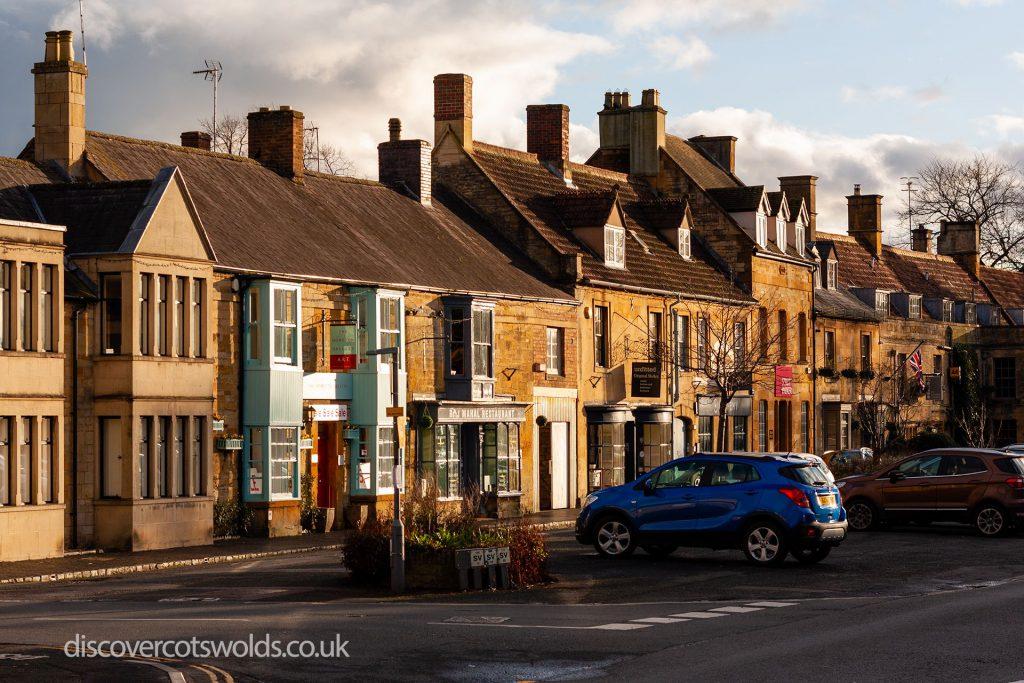 Row of shops in Moreton in Marsh