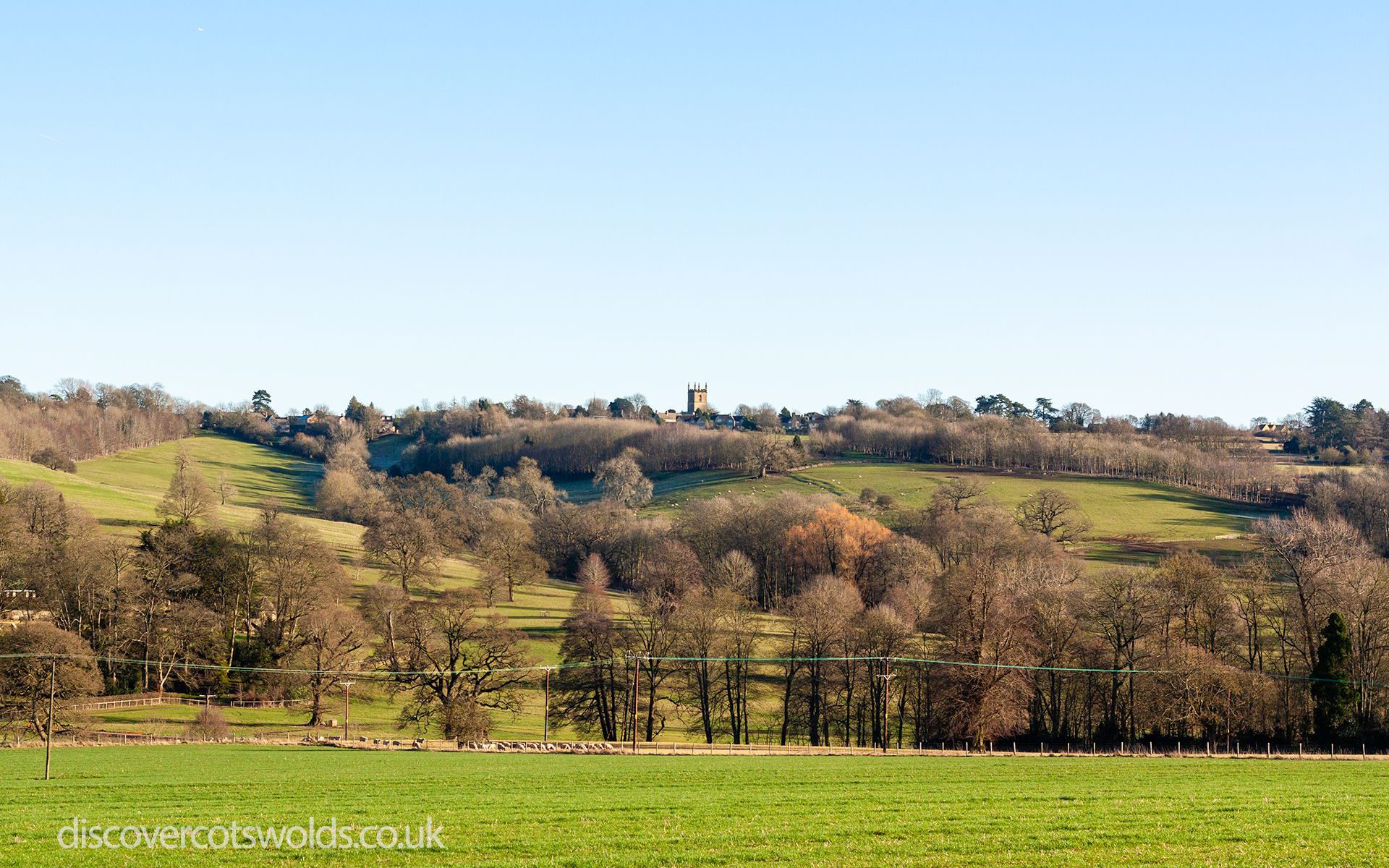 Landscape looking towards Stow on the Wold