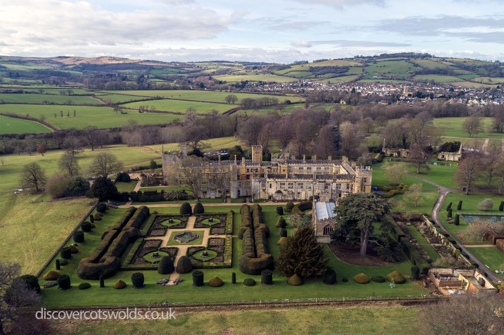 Aerial photo of Sudeley Castle, near Winchcombe