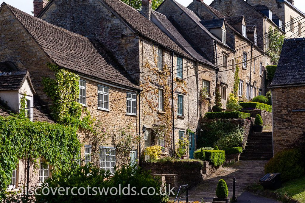 The weavers cottages alongside the Chipping Steps in Tetbury
