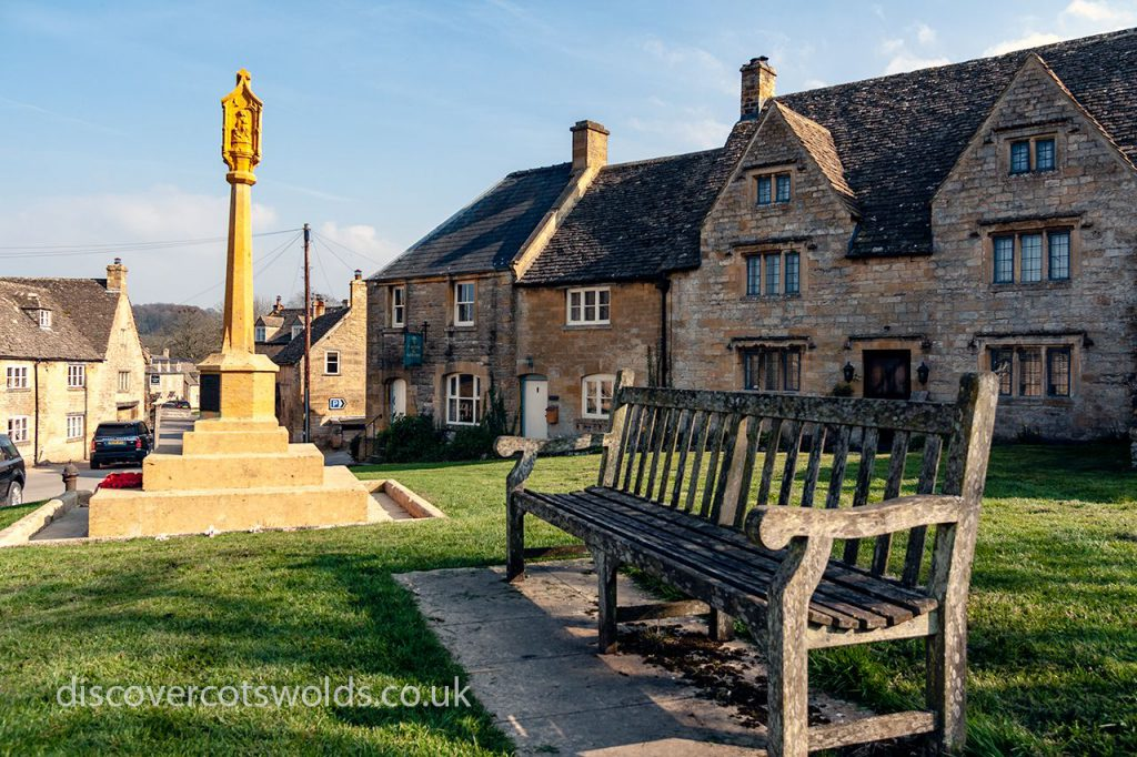 Guiting Power village green and war memorial