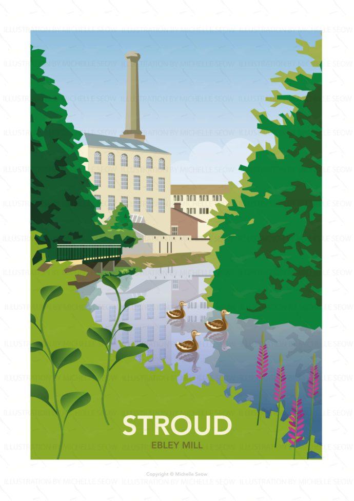 Illustration of Ebley Mill in Stroud