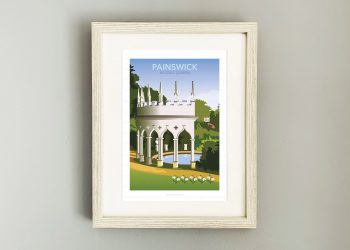 Framed illustration of Painswick Rococo Garden