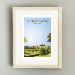 Framed portrait illustration of Sudeley Castle