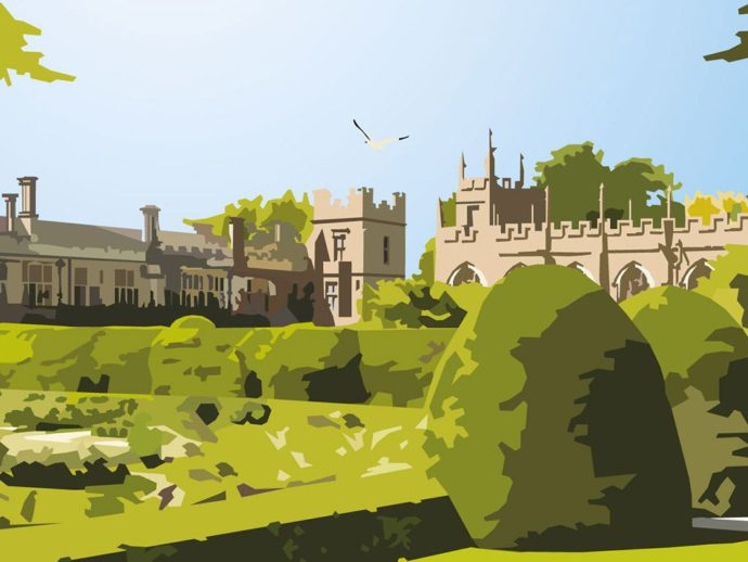 Close up of portrait illustration of Sudeley Castle