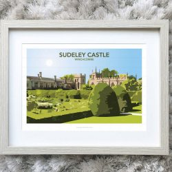 Framed illustration of Sudeley Castle