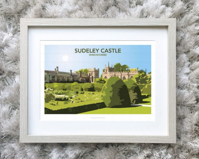 Framed illustration of Sudeley Castle