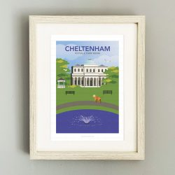 Framed illustration of Pittville Park, Cheltenham