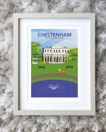 Framed illustration of Pittville Park, Cheltenham