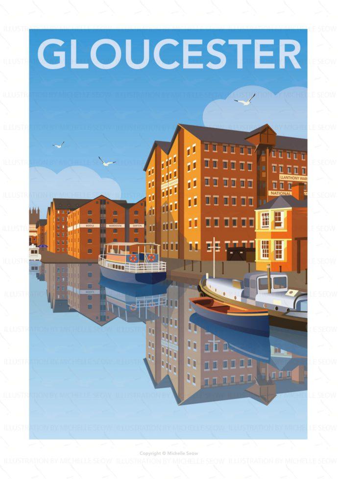 Illustration of Gloucester docks