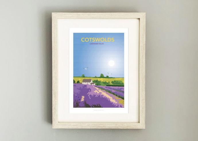 Cotswold Lavender framed