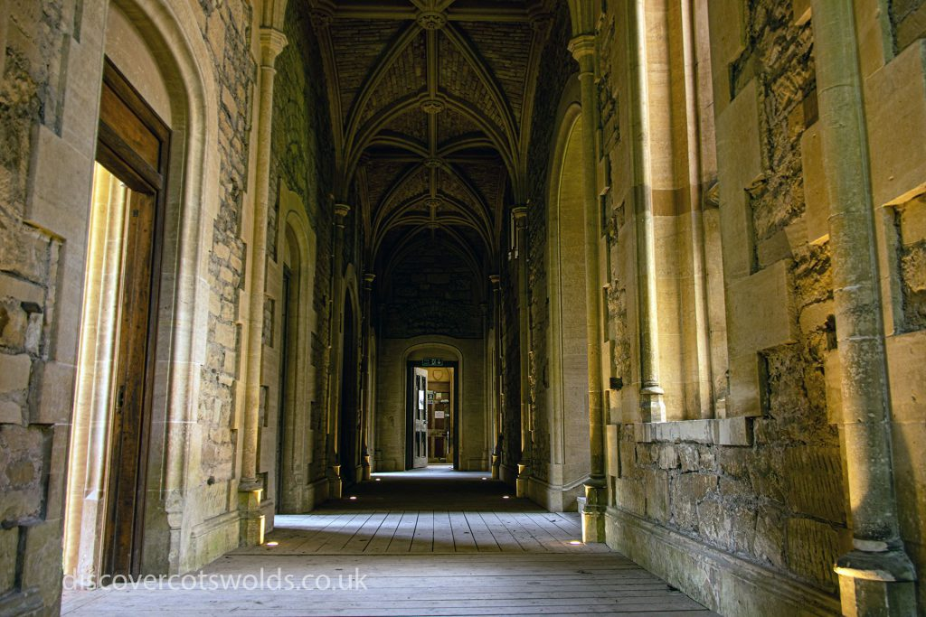 An internal corridor at Woodchester Mansion