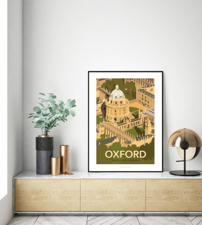 Radcliffe Camera illustrated poster