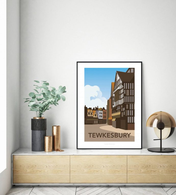 Travel poster of Tewkesbury