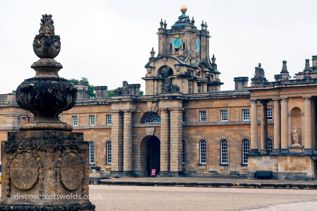 Inside the courtyard at Blenheim Palace
