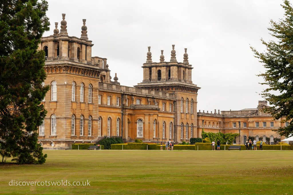 A side view of Blenheim Palace