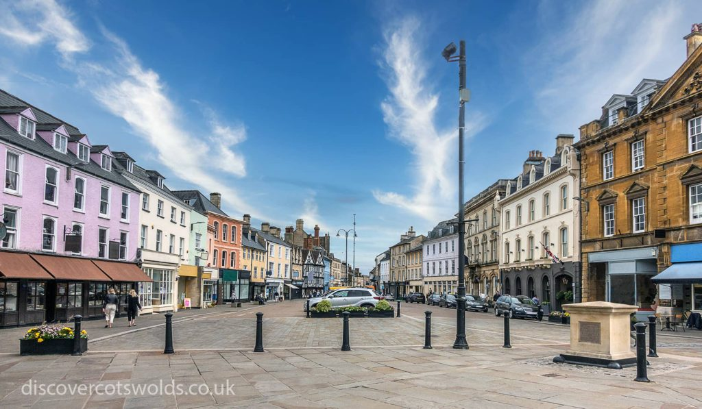 The market place in the centre of Cirencester