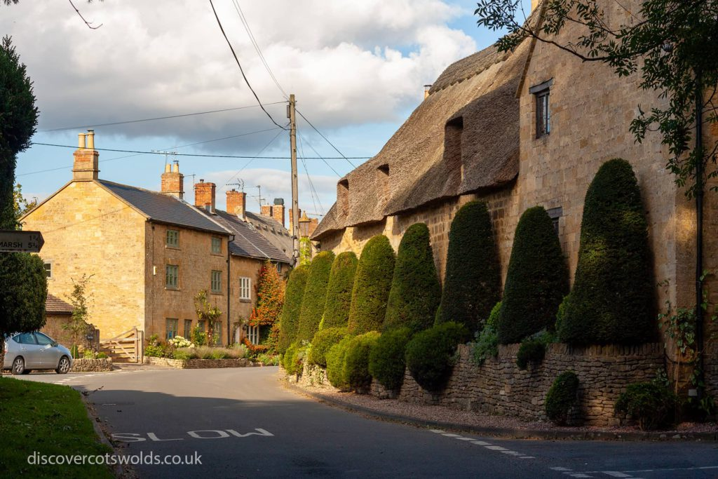 Houses in Broad Campden on a sunny day