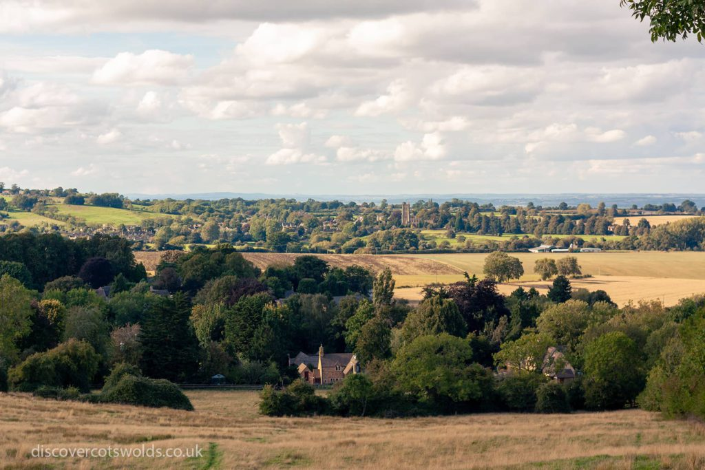 Views across Broad Campden towards Chipping Campden