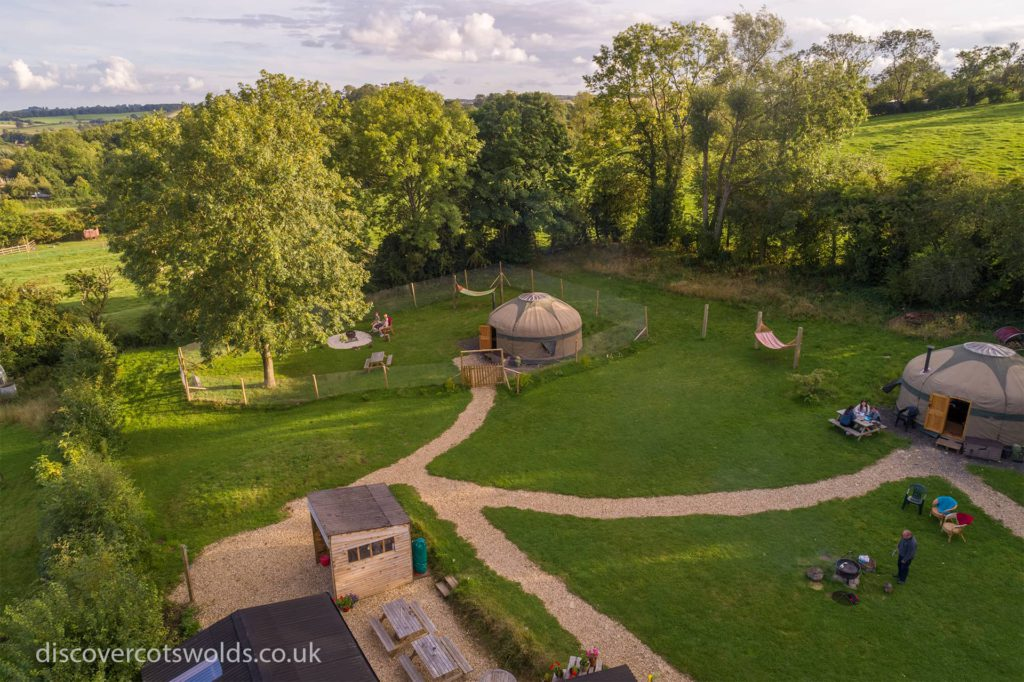 Campden Yurts is just on the edge of Chipping Campden